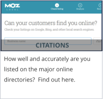 CITATIONS How well and accurately are you listed on the major online directories?  Find out here.